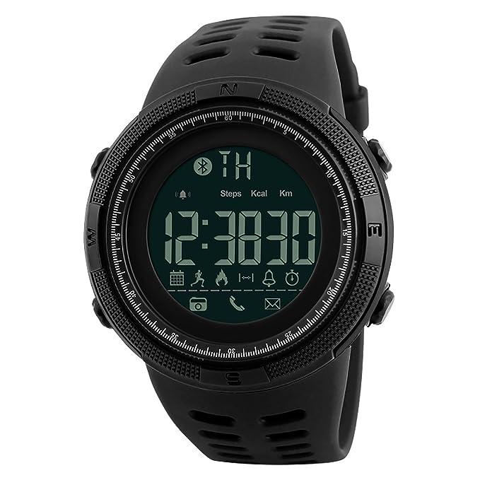 2 opinioni per Longqi Skmei smartwatch digitale sportivo da polso, impermeabile, con Bluetooth.