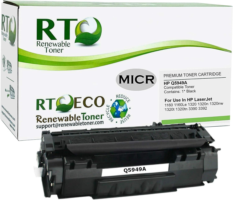 Renewable Toner Compatible MICR Toner Cartridge Replacement for HP Q5949A 49A Laserjet 1160 1320 3390 3392