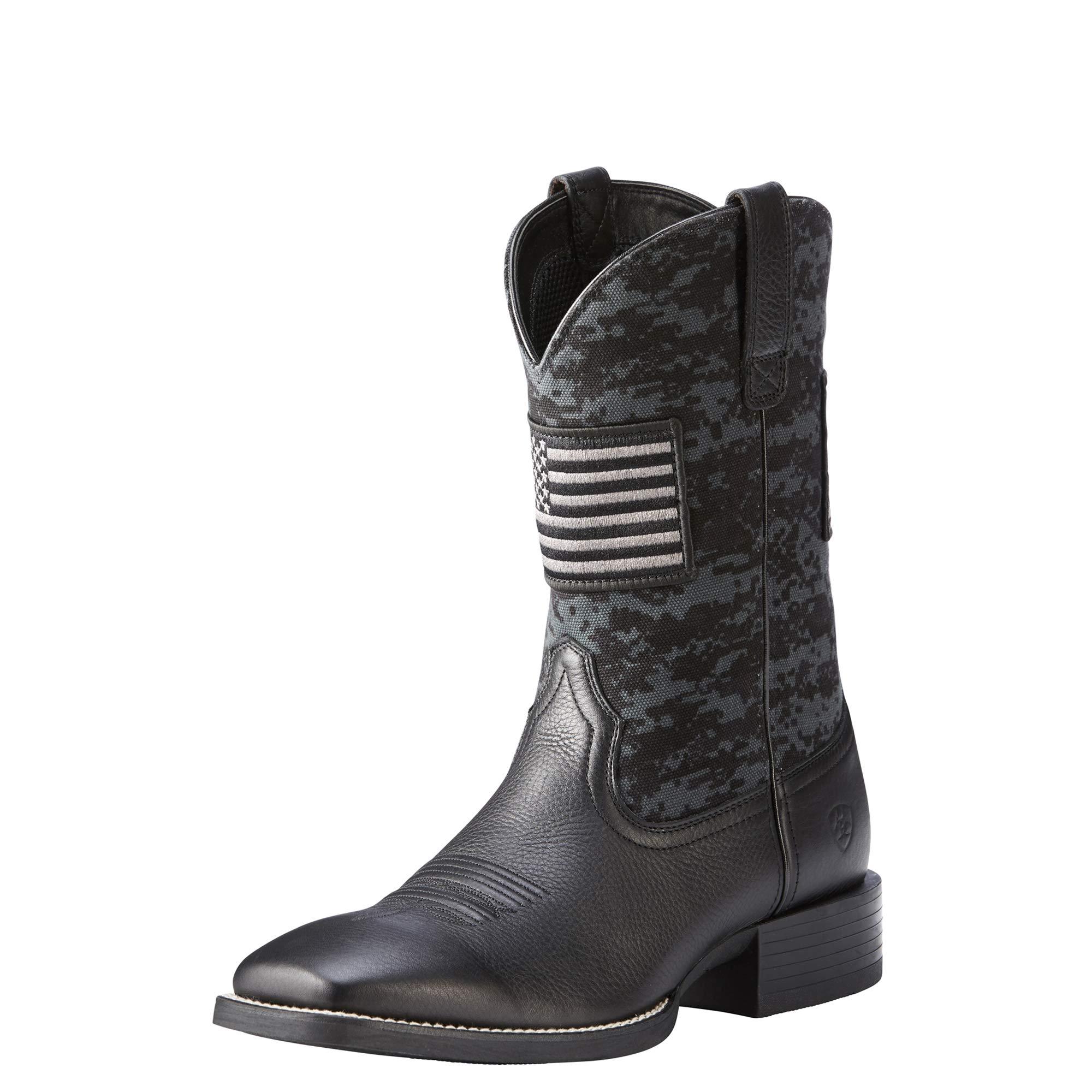 Ariat Men's Sport Patriot Western Boot, Deer tan/Black camo Print, 10 D US by ARIAT
