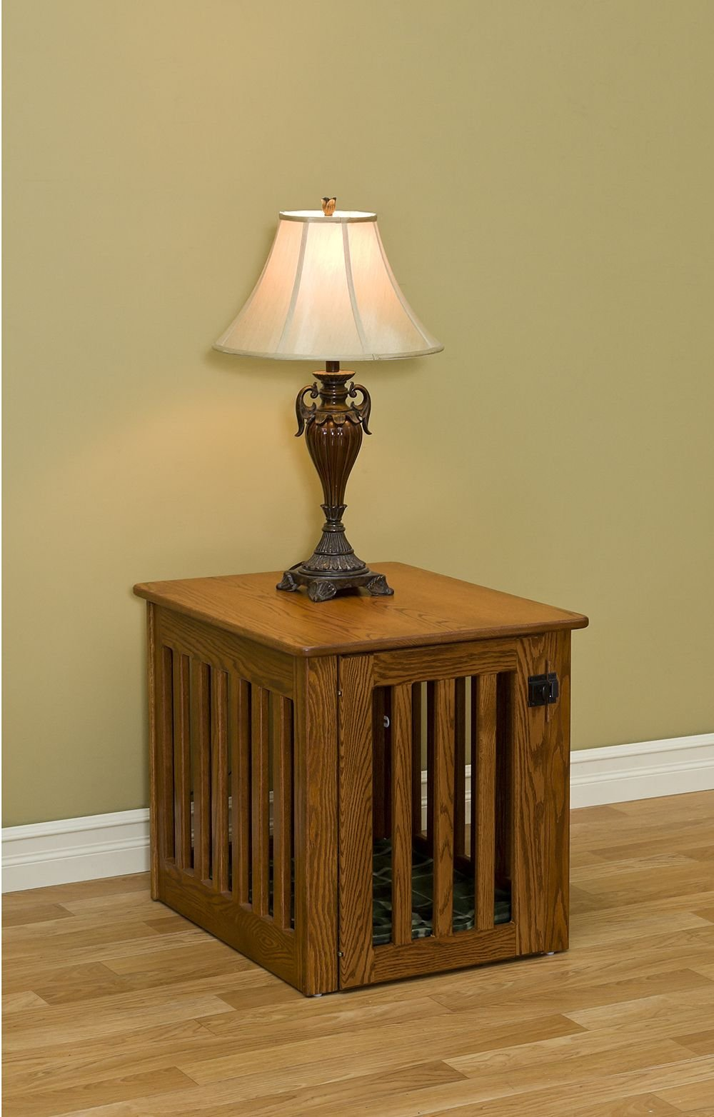 Wooden  Dog Crate - Decorative Dog Crate End Table Made of Oak Wood Furniture Medium Sized 29 x 23 x 24 inches by Pinnacle