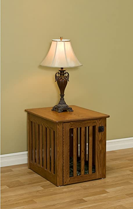 wooden dog crate decorative dog crate end table made of oak wood furniture medium sized