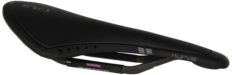 FIZIK(フィジーク) KURVE(クーヴァ)(スネーク)カーボンレール(2015/16) ブラック(7050A3B800) レール幅42mm サドル B00OZW88AI
