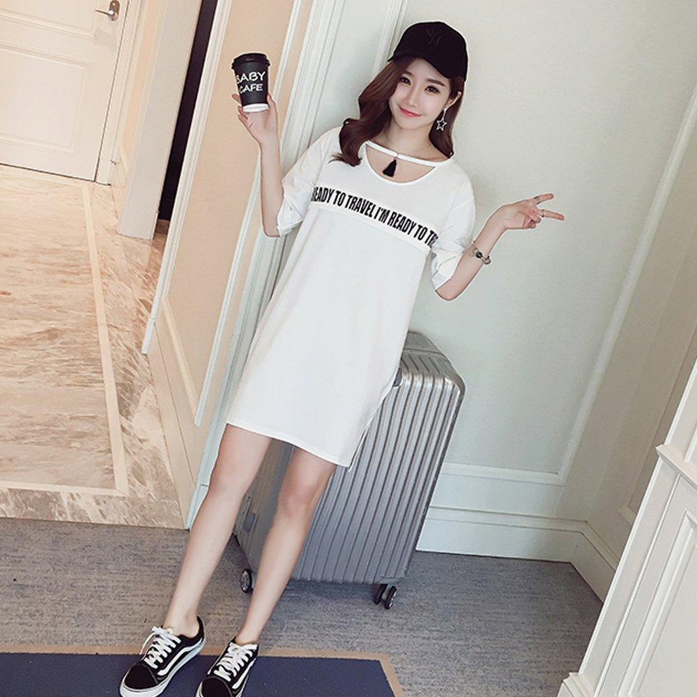 KINDOYO Vestido Lactancia de Mujer Embarazo - Moda Clásico Premamá Blusa Maternidad de Manga Corta Camiseta Vestidos Verano: Amazon.es: Ropa y accesorios