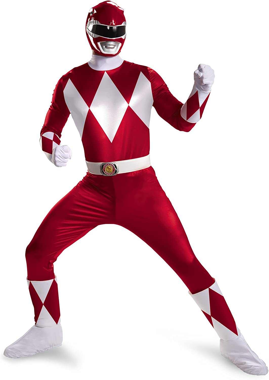 Disfraz DI55618-XL para hombre Power Rangers Ranger Rojo S-per ...
