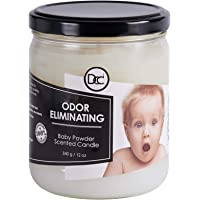 Baby Powder Candle - Odor Eliminating Highly Fragranced Candle - Eliminates 95% of Pet, Smoke, Food, and Other Smells…