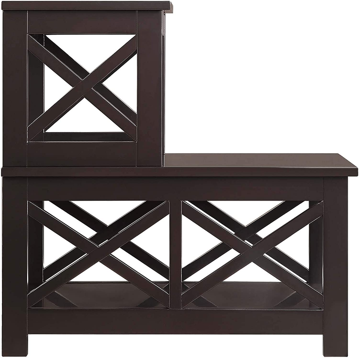 Convenience Concepts Oxford 2 Step Chairside End Table, Espresso