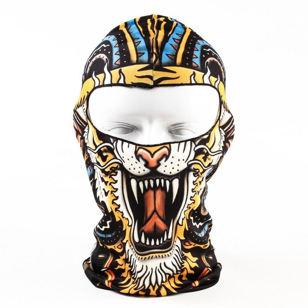 SODIAL Leopardo tigre colorido Mascara de motocicleta ciclismo deportes al aire libre activo de animal 3D de capucha del esquiMascara facial completa ...