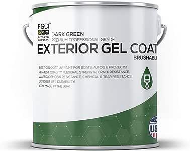 Amazon.com: DARK GREEN Boat Paint, Brushable EXTERIOR GEL