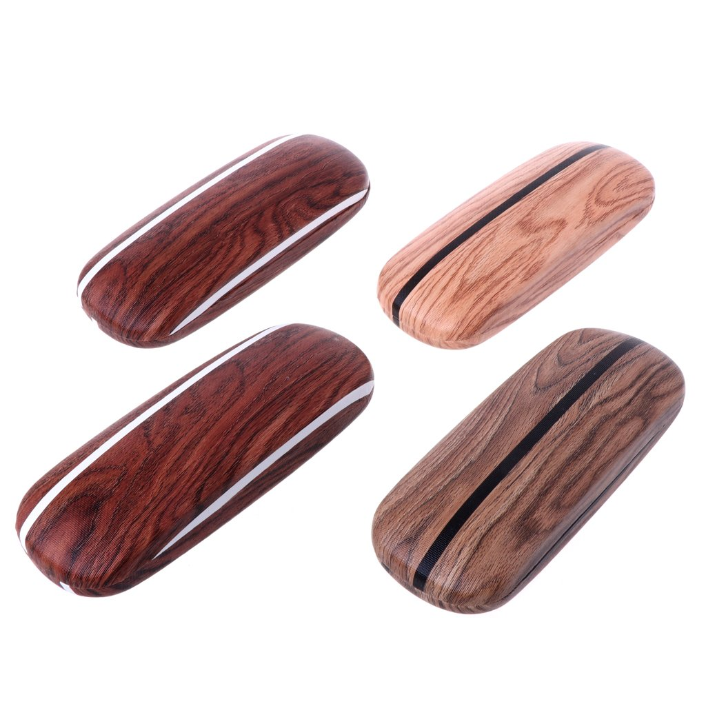 SupremeLife Wood Grain Hard Eye Glasses Case, Sunglasses Protector Bag, Color Random