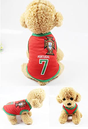 PET Ropa para perros The World Cup Dog Vest 6 Country Soccer Camiseta para perros 4