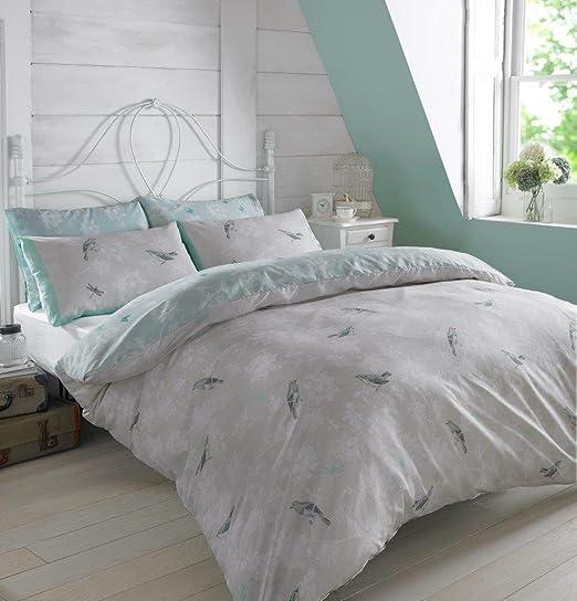 Dreamscene - Juego de funda nórdica con funda de almohada de jaula ...