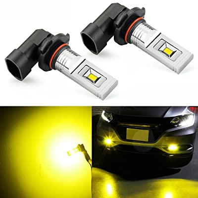 JDM ASTAR CSP Chips H10 9145 9140 LED Fog Light Bulbs, Gold Yellow: Automotive