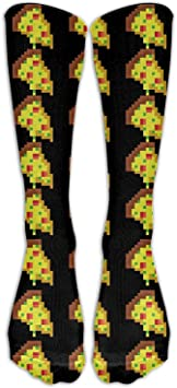 Adultos ocasionales Fútbol Fútbol Deporte Medias Pizza Pixel Patrón Tubo para todos los calcetines largos altos de Holiday Girls: Amazon.es: Salud y cuidado personal