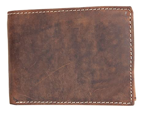 Fuerte cartera de cuero genuino natural sin marcas o logotipos