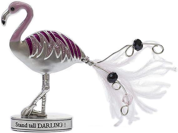Zinc Flamingle Flamingo Inspirational Standing Figurine Keep Your Head Up