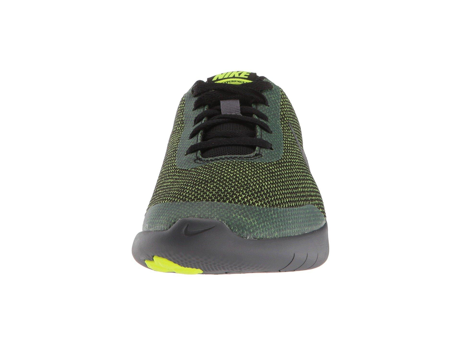 Nike Kids Flex Experience RN 7 (GS) Running Shoes (3.5 Big Kid M, Black/Metallic Dark Grey/Volt/Dark Grey) by Nike (Image #5)