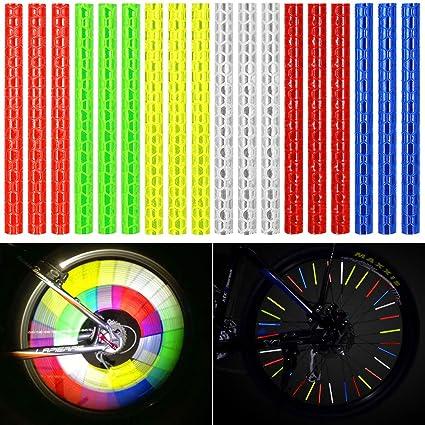12x vélo réflecteur rayons réflecteur rayons Réflecteurs rayons Neon Couleurs