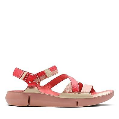 353dd78565df0 Clarks Tri Sienna Textile Sandals in Standard Fit Size 8 Pink ...