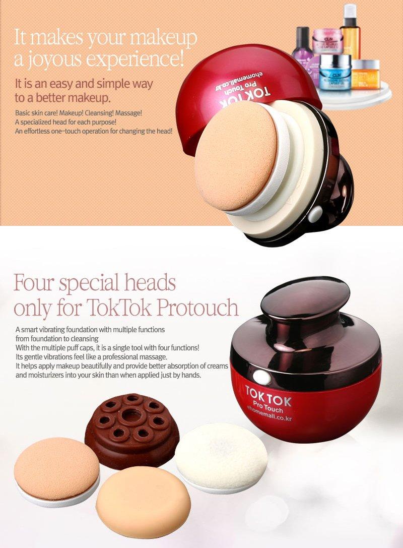 Amazon : Toktok Pro Touch Smart Vibrating Foundation Powder Cleansing  Massage Puff Sponge : Makeup Puffs : Beauty