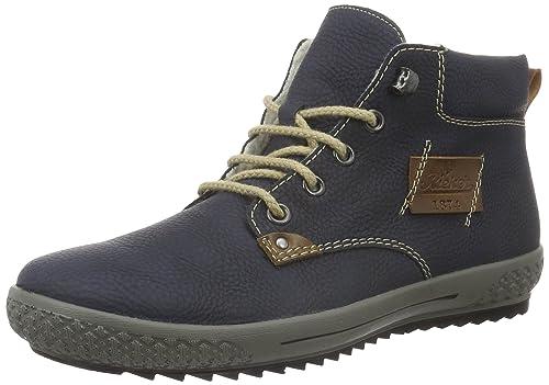 Rieker M6132, Botines para Mujer, Azul (Pazifik/Mogano / 15), 41 EU: Amazon.es: Zapatos y complementos