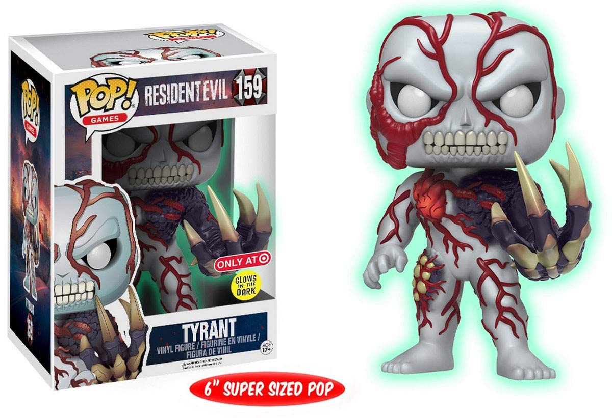 Funko - Figurine Resident Evil - Tyrant OverGrößed Glow In The Dark Exclu Pop 10cm - 0889698125529