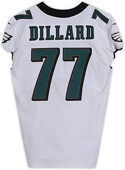 Andre Dillard Philadelphia Eagles Game-Used #77 White Jersey from ...