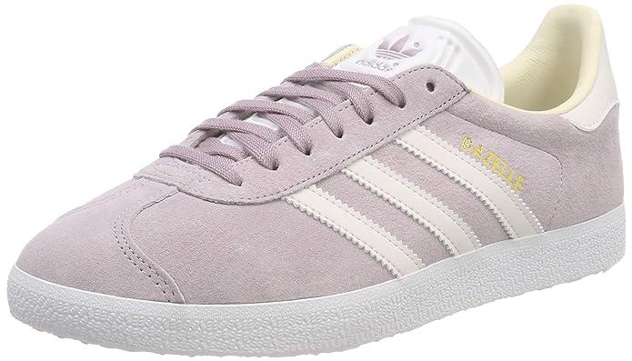 adidas Damen Gazelle Sneaker Rosa (Soft Vision) mit weißen Streifen