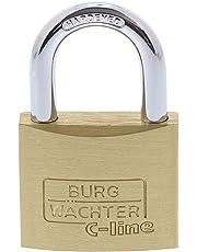 BURG-WÄCHTER Vorhängeschloss, 4er-Set, 6 mm Bügelstärke, 4 Schlüssel, Quadro 222 40 SB