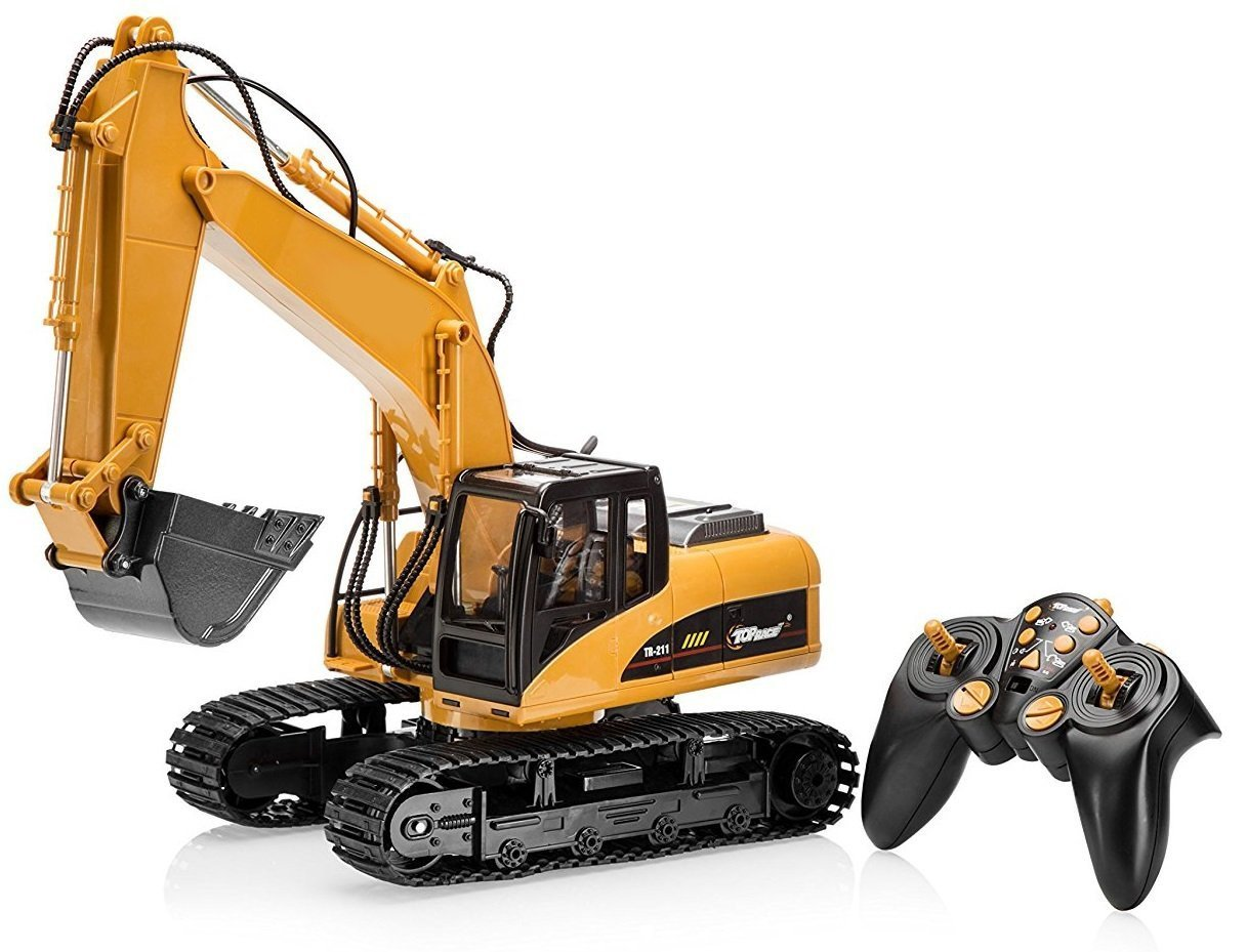 Top Race 15 Channel Full Functional Remote Control And Are More Than A Basic 4 Or 5 Rc Transmitter Excavator Construction Tractor Toy With 24ghz Metal Shovel Tr