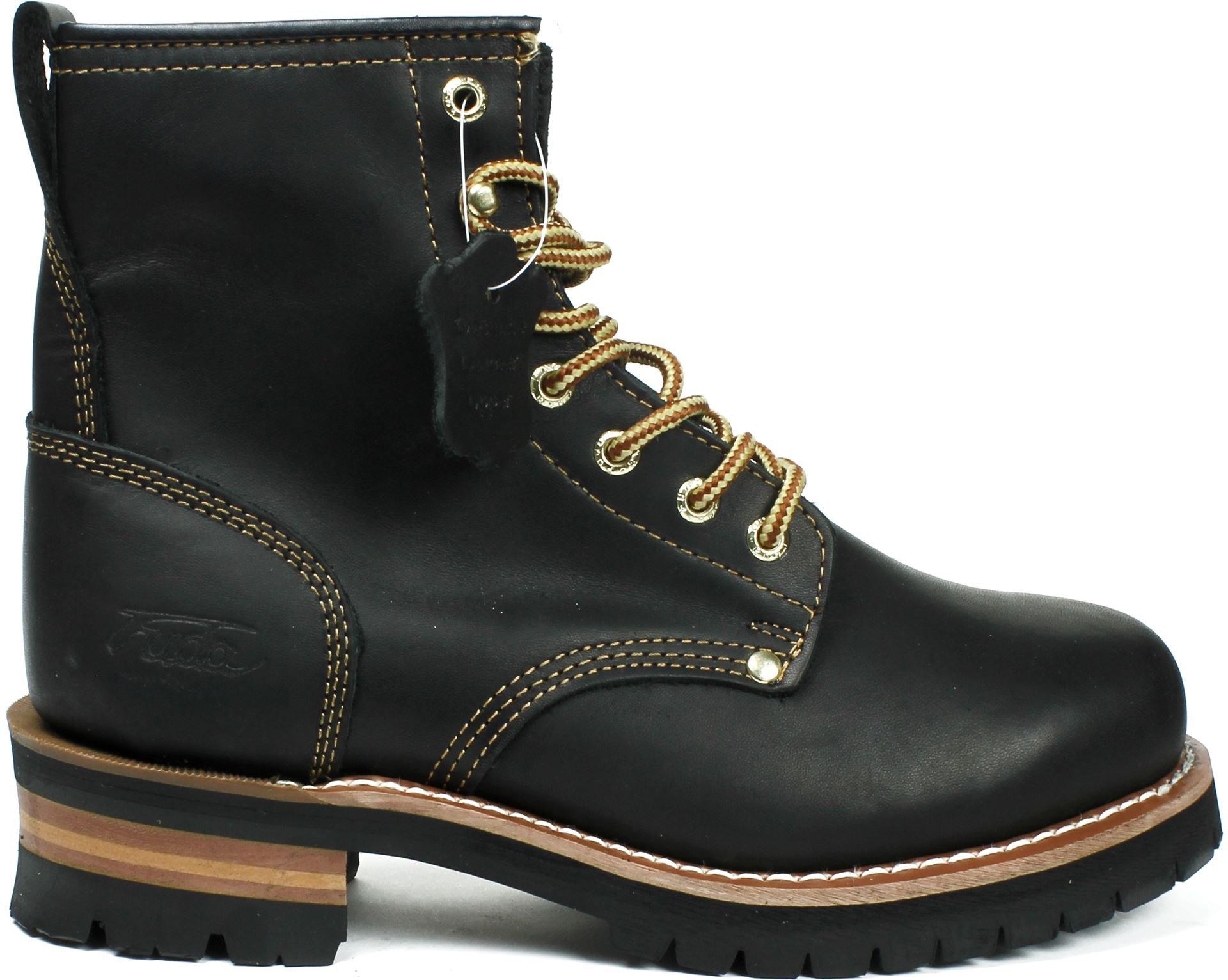 LABO Fuda Men's Leather Working Boot - 692-BLACK-10