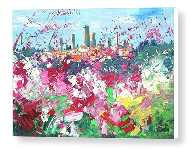 Amazon.com: San Gimignano Tuscan Country Wall Art Modern Italy ...