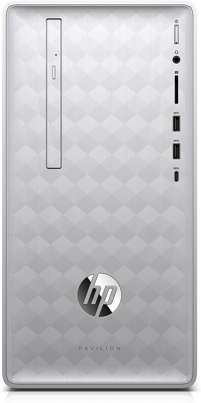 HP Pavilion 590 Desktop - 8th Gen Intel Core i7-8700 6-Core up to 4.60 GHz, 32GB DDR4 Memory, 512GB SSD, 2GB AMD Radeon RX 550 Graphics, DVD Writer, Windows 10 Pro, Silver