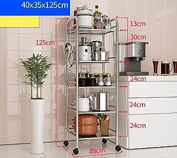 CFstc Estantería de Cocina Estanterías para hornos de microondas Estanterías  de Utensilios de Cocina de Acero 9b20453ae505