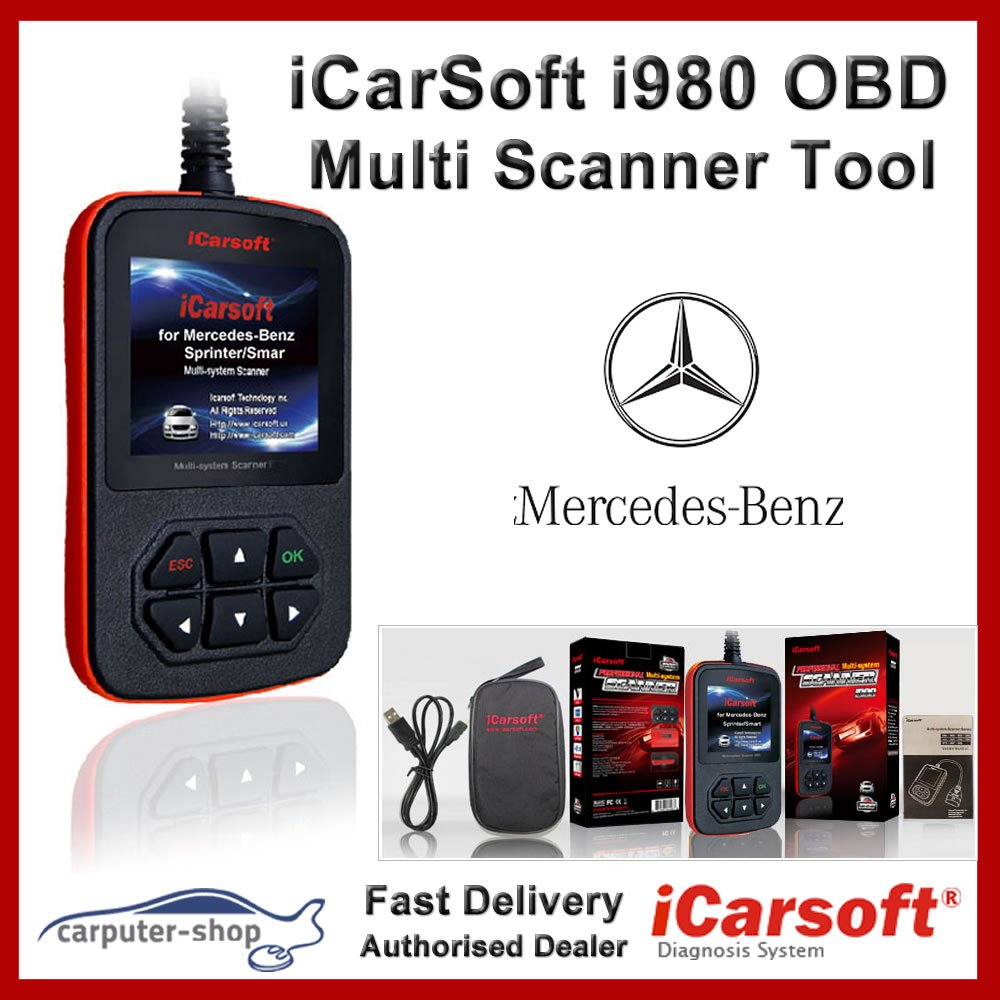 Scanner multi-systèmes iCarsoft Mercedes-Benz/Sprinter/Smart I980Outil de diagnostic OBD i980
