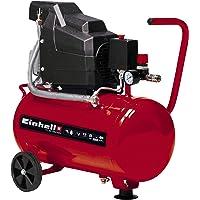 Einhell Compressor TC-AC 190/24/8 (1500 W, 8 bar, 24 L tank, olie gesmeerd, terugslagklep en veiligheidsventiel…
