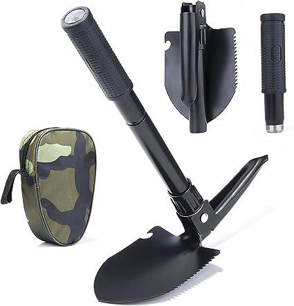 Militaire Portable Pliant Pelle /& Ice pick avec étui