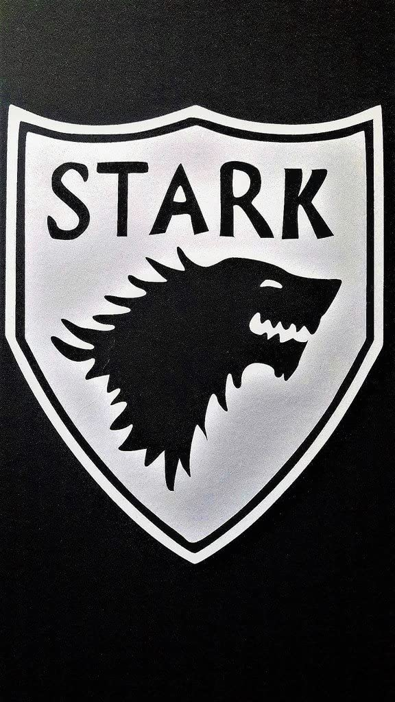 "House of Stark Vinyl Decal Sticker|White|Cars Trucks SUV Laptops Boats Kayak Wall Art|5.5"" X 4.5""