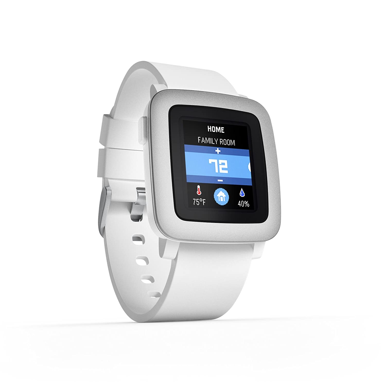 Pebble Time Smartwatch - White