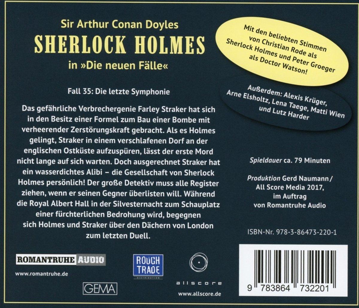Die Letzte Symphonie (Neue Fälle 35) - Sherlock Holmes: Amazon.de: Musik
