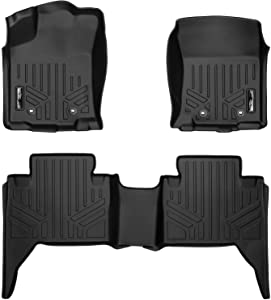 MAXLINER Custom Fit Floor Mats 2 Row Liner Set Black for 2018-2019 Toyota Tacoma Double Cab