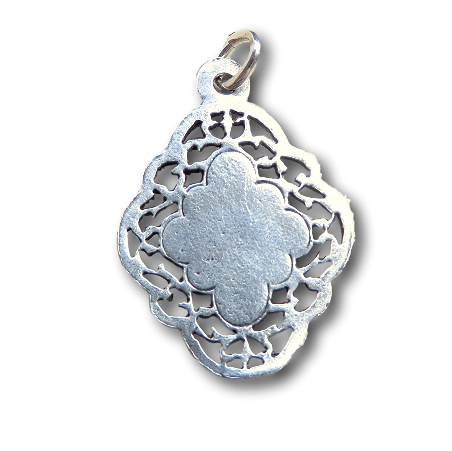 Antique Reproduction Sterling Silver Antique-Style First Communion Medal