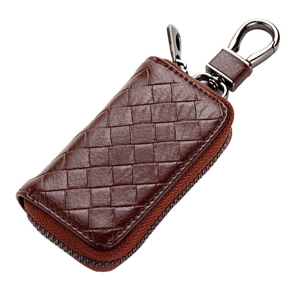 Darlyard PU Leather Car Key Wallets Men Card Money Holder Housekeeper Case Bag Chocolate color