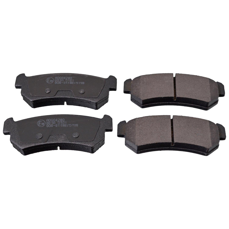 Blue Print ADG042123 Bremsbelagsatz hinten, 4 Bremsbel/äge