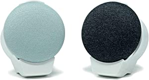 doqxD Wall Outlet Mount for Google Home Mini 1st Generation: Essentials Made for Google Home Mini 1st Generation - Fits Horizontal and Vertical Outlets (2-Pack, Frost White)