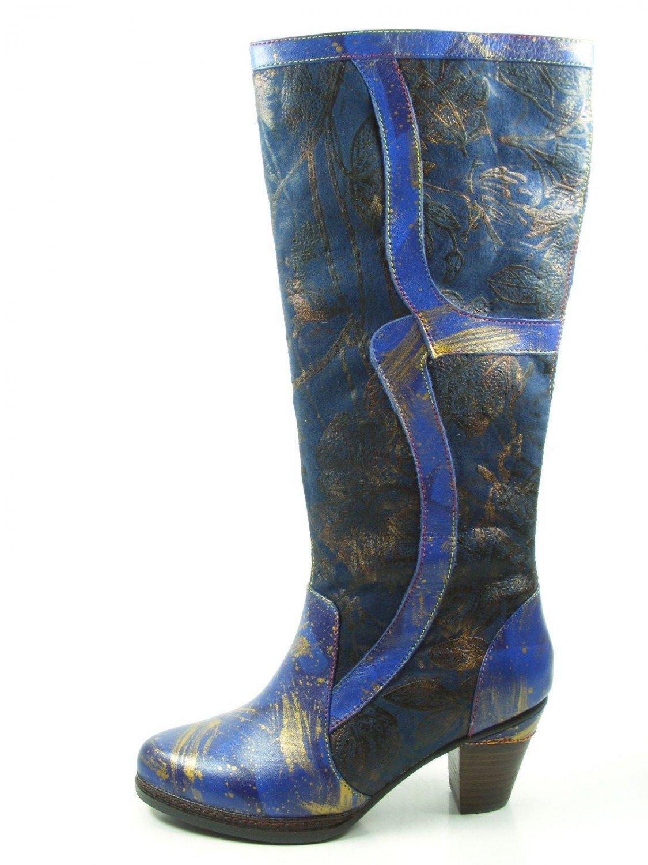 Laura Vita SL1293-11A Alizee 11 Botines de cuero para mujer Blau