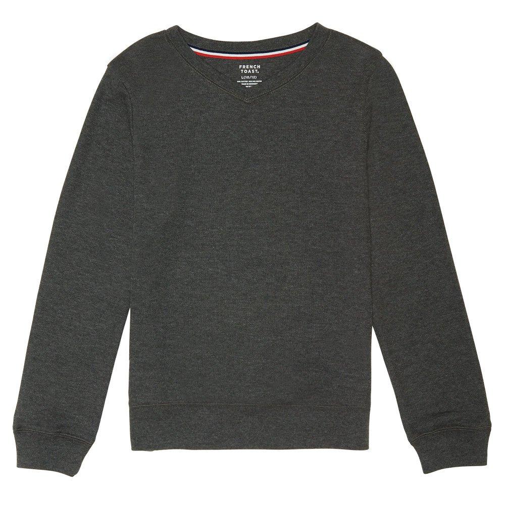 French Toast Boys Long Sleeve Flat Back Rib Knit Pullover SA9088