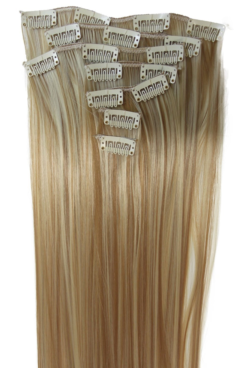 Amazon prettyshop xxl set 8 pcs 24 clip in hair extensions prettyshop xl set 7pcs full head 24 clip in hair extensions hairpiece straight heat pmusecretfo Image collections