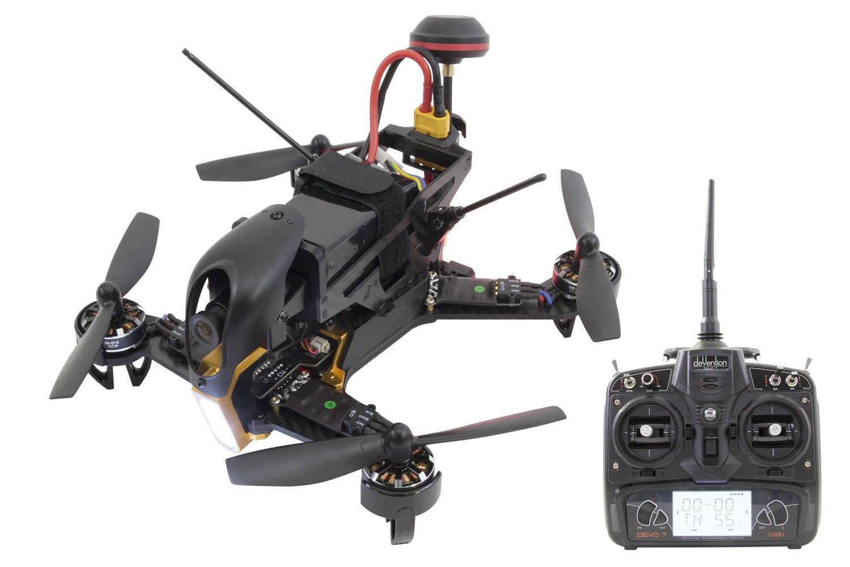 xciterc 15003900–FPV Racing cuadricóptero F210RTF con Sony Cámara HD, OSD, batería, Cargador y Control Remoto Devo 7, Color Blanco