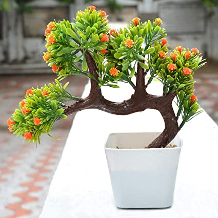 Crystu Bonsai Plant Artificial Tree With Pot