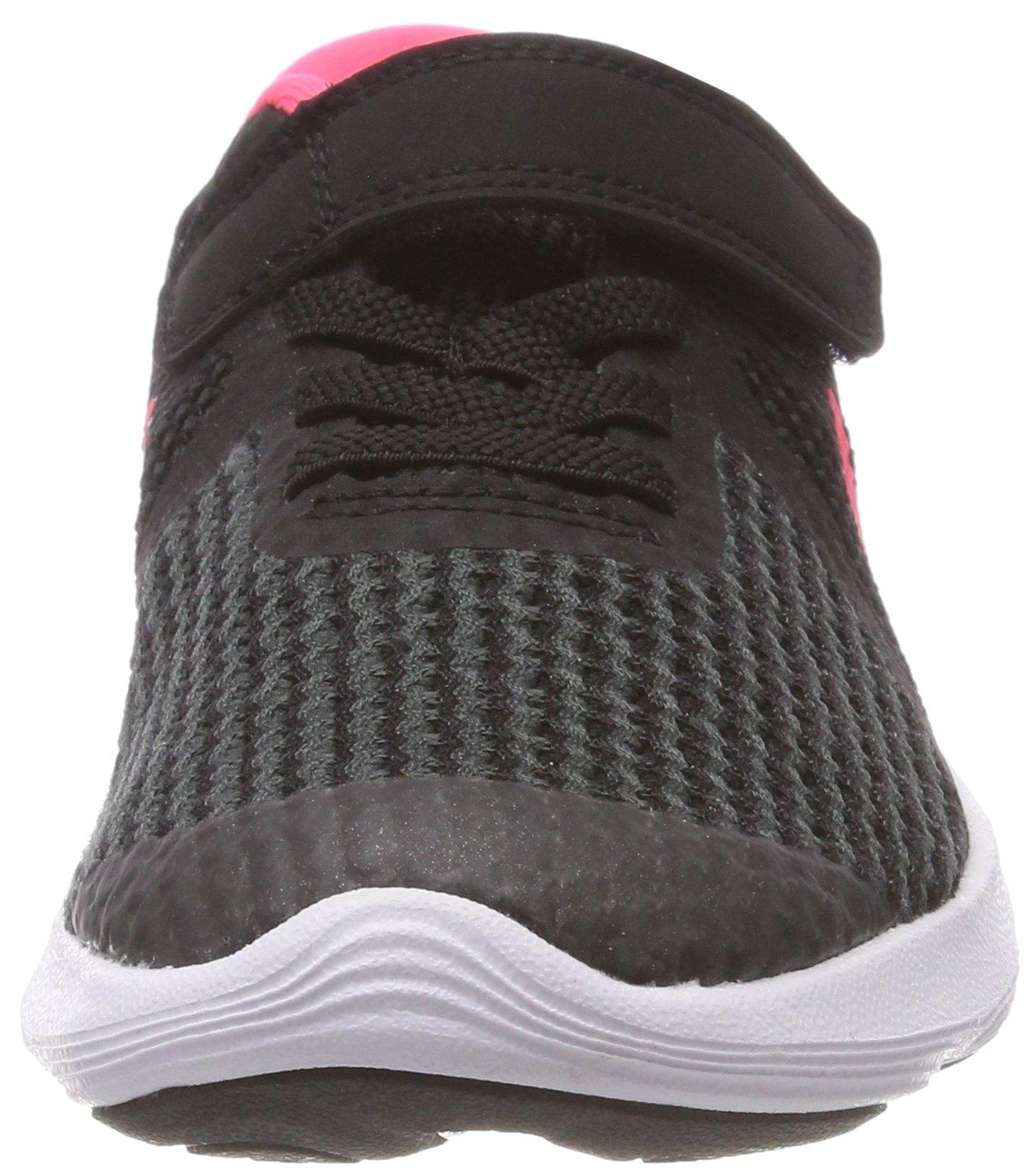 Nike Girls' Revolution 4 (PSV) Running Shoe, Black/Racer Pink - White, 11.5C Regular US Little Kid by Nike (Image #4)